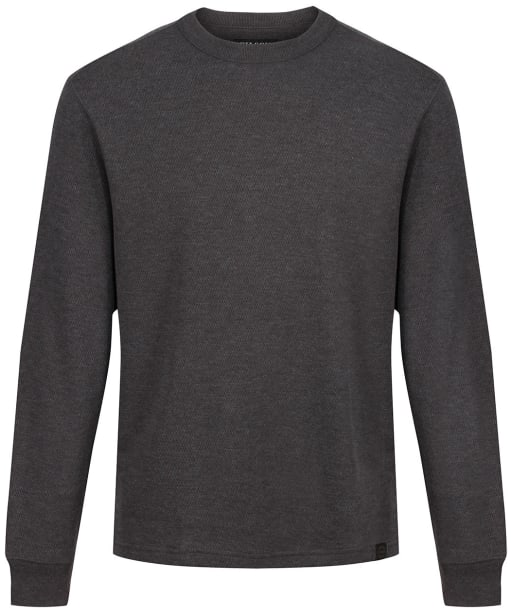 Men's Filson Waffle Knit Thermal Crew Sweater - Charcoal