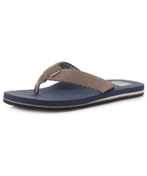 Men's Reef Ponto Prints Flip Flops - Brown / Blue