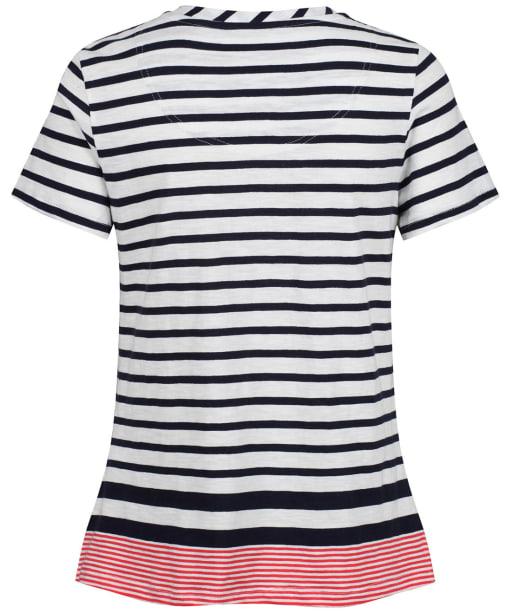 Women's Joules Carley Stripe T-Shirt - Navy / Creme / Red