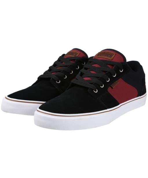 etnies Barge LS Shoes - Black / Red / Beige