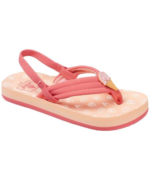 Girl's Reef Little Ahi Scents Flip Flops - Kids - Ice Cream