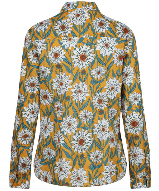 Women's Seasalt Larissa Shirt - Gazania Daisies Sandstone