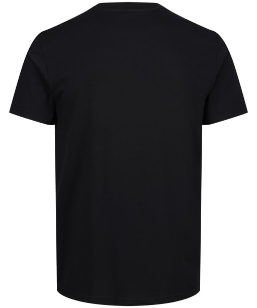 Men's Tentree Palm Sunset Embroidery T-Shirt - Meteorite Black