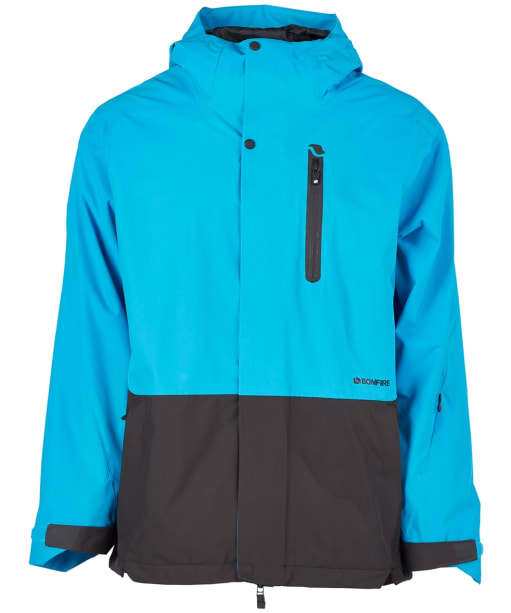 Men's Bonfire Ether Shell Snowboard Jacket - Cyan