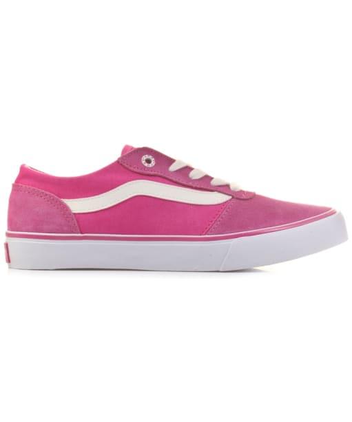 Women's Vans Milton Suede Canvas Skate Shoes - Pink