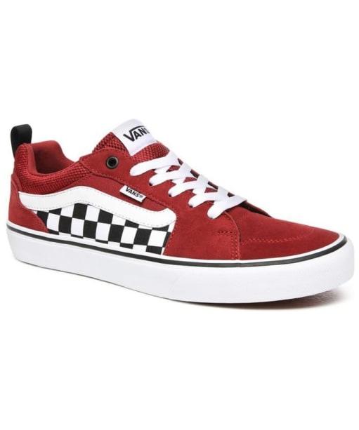 Men's Vans Filmore Checkerboard Skate Shoes - Rosewood / White