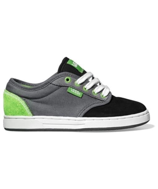 Vans Preston Youth Skate Shoes - Black / Pewter / Green