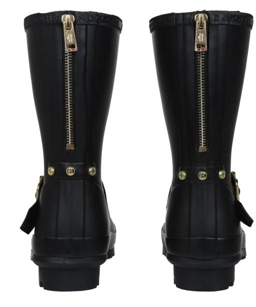 Women's Holland Cooper Short Zip Chelsea Wellingtons - Matte Black