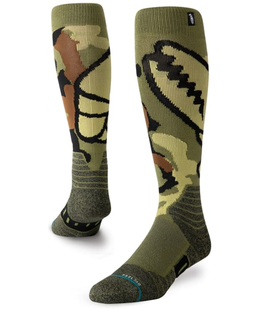 Men's Stance Camo Grab Snowboard Socks - Green