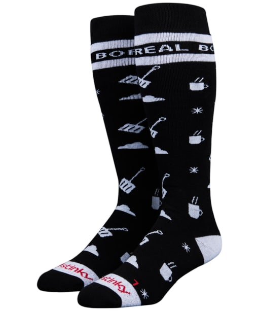Stinky Socks Boreal Mountain Heavyweight Socks - Black / White