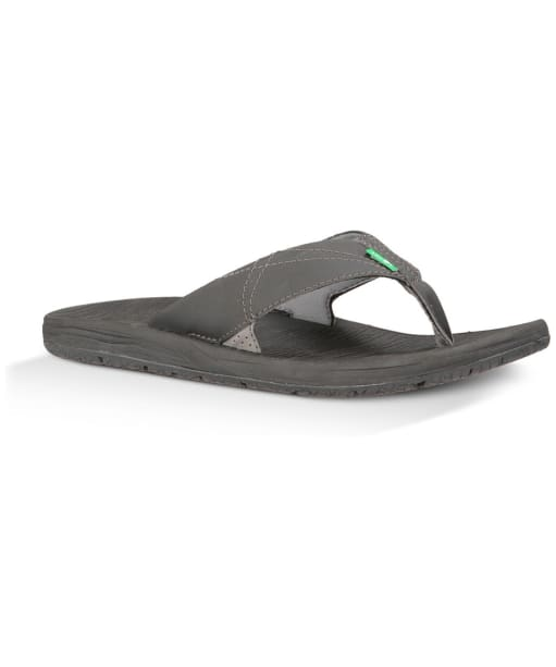 Men's Sanuk Latitude Flip Flops - Black