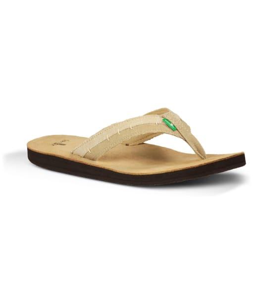 Men's Sanuk Dr Fray Flip Flops - Tan