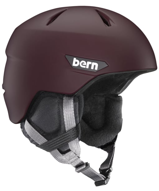 Bern Weston Zipmold Snowboard Helmet - Matte Oxblood