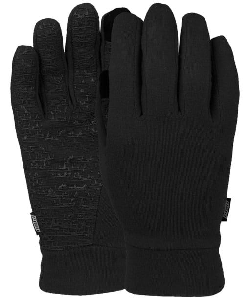 Men's Pow Snowboard Ski Poly-Pro Glove Liners - Black