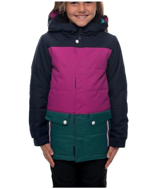 Girl's 686 Lily Snowboard Ski Jacket - Navy Colourblock