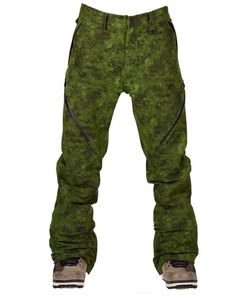 Men's Bonfire Zone 2-Layer Stretch Snowboard Pants - Green Watercolour