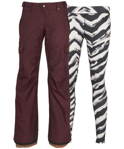 Women's 686 Smarty Cargo Pants - Wine Melange