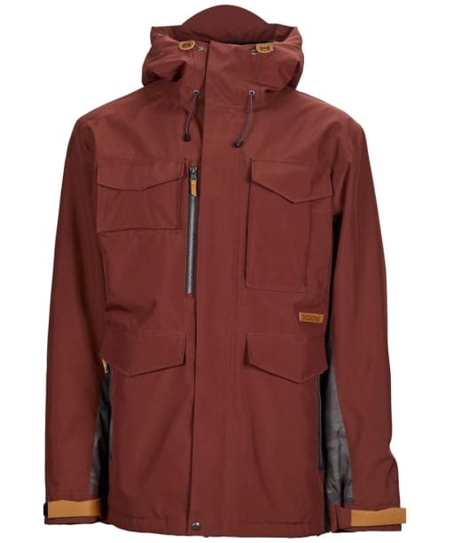 Men's Sessions Ransack Insulated Snowboard Jacket - Maroon / Dark Camo