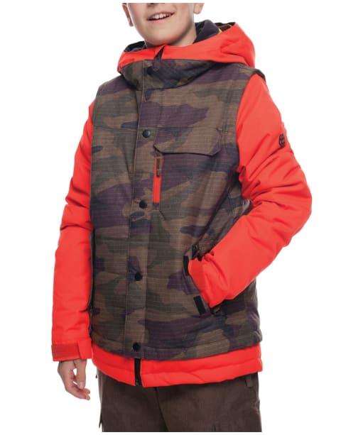 Boy's 686 Scout Snowboard Ski Jacket - Infrared / Camo