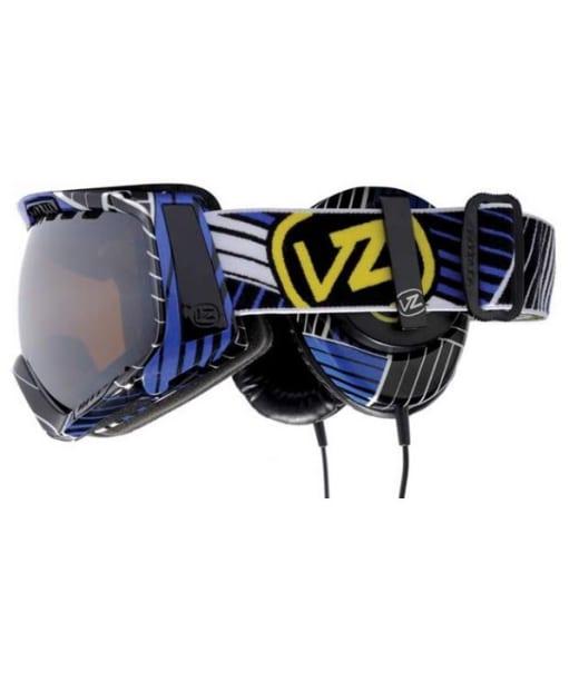VonZipper Feenom Goggles Synchro Royal Skull Candy Headphones - Black