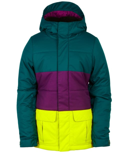 Girl's 686 Polly Snowboard Ski Jacket - Jade Colourblock