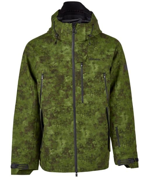 Men's Bonfire Aspect 3-Layer Stretch Snowboard Jacket - Green Watercolour