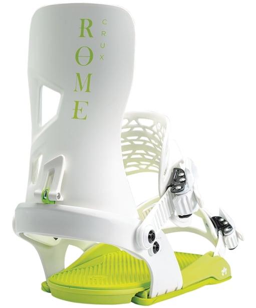 Rome Crux Snowboard Bindings - White