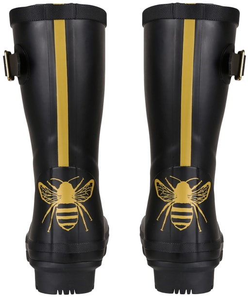 Women's Joules Molly Mid Height Wellies - Gold Etched Bee
