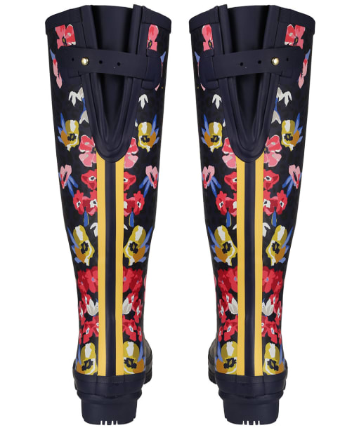 Women's Joules Printed Wellies - Navy Floral Leopard