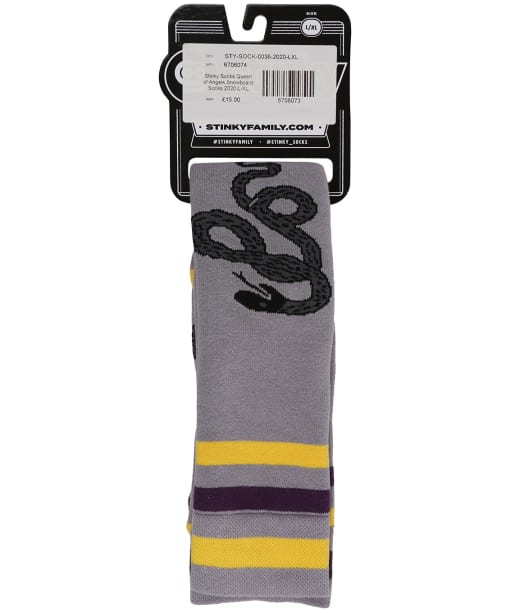 Stinky Socks Queen of Angels Snowboard Socks - Grey