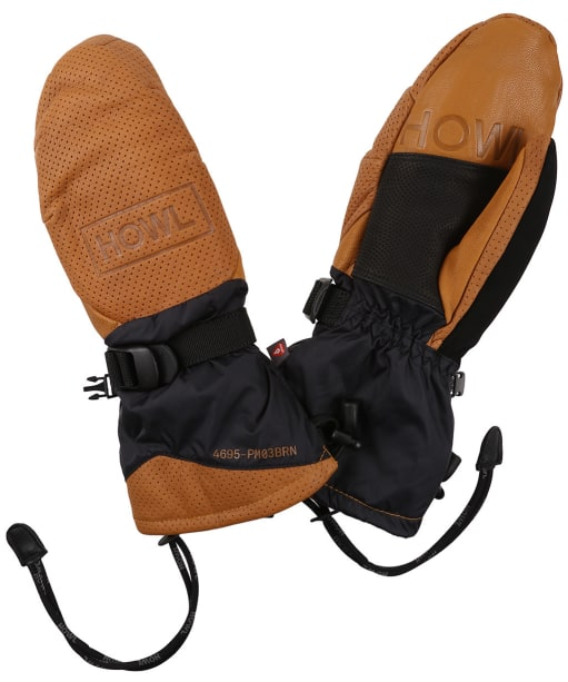 Howl Former Snowboard Mitts - Brown