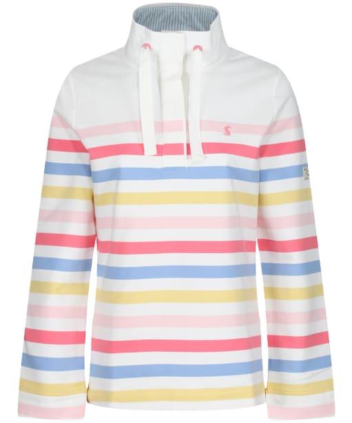 Women's Joules Saunton Sweater - Cream Strawberry Stripe