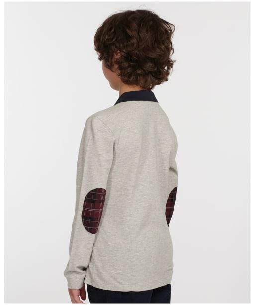 Boy's Barbour Leon L/S Polo Shirt - Grey Marl