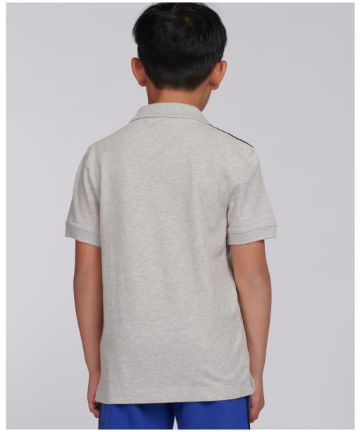Boy's Barbour International Tape Polo Shirt - Grey Marl