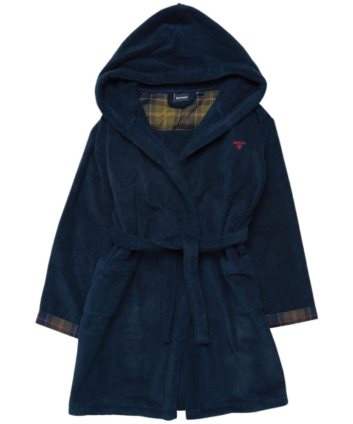 Boy's Barbour Lucas Dressing Gown - Navy