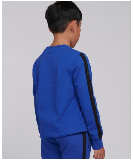 Boy's Barbour International Tape Sweater – 10-15yrs - Atlantic Blue