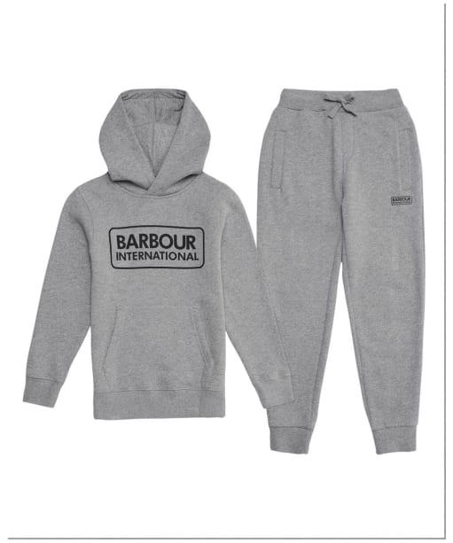 Boy's Barbour International Essential Tracksuit – 10-15yrs - Grey Marl