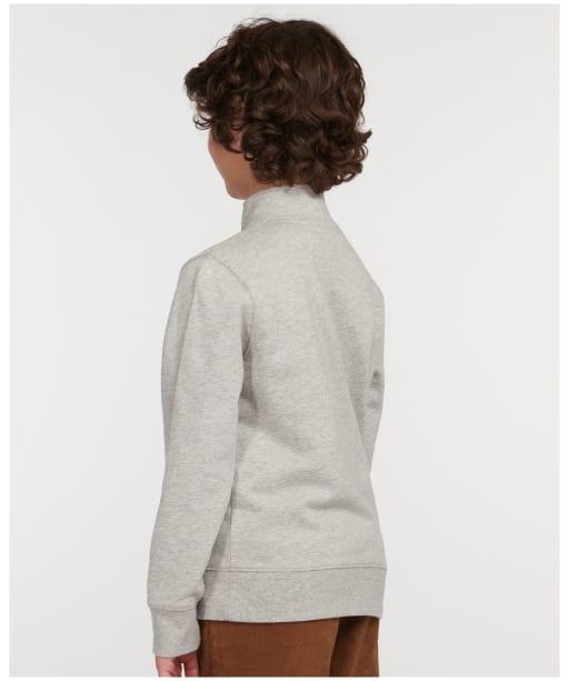 Boy's Barbour Half Snap Overlayer - Grey Marl