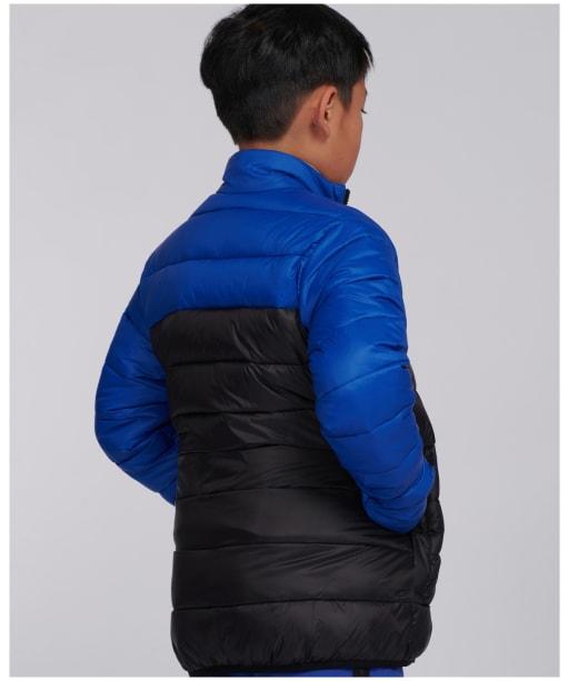 Boy's Barbour International Borough Quilt - Cobalt Blue