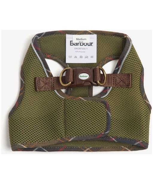 Barbour Mesh Tartan Dog Harness - Olive