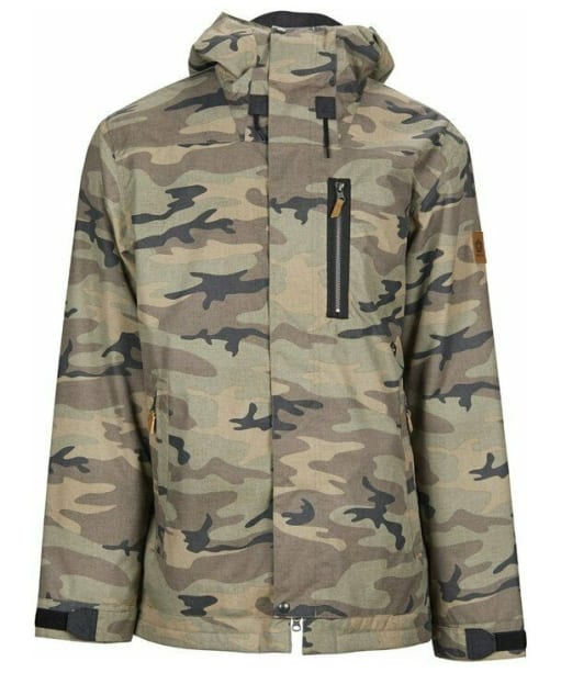 Men's Sessions Scout Snowboard Jacket - Green Camo