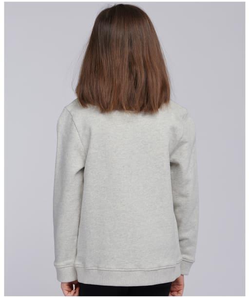 Girl's Barbour International Clypse Overlayer - Pale Grey Marl