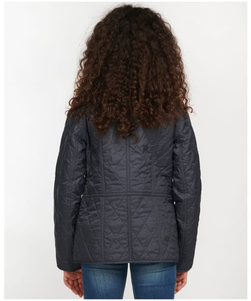Girl's Barbour Printed Summer Liddesdale Quilted Jacket – 6-9yrs - NAVY/FUCHS SECR