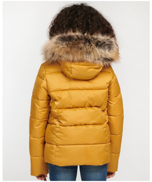 Girl's Barbour Bayside Quilted Jacket - Honey Mustard