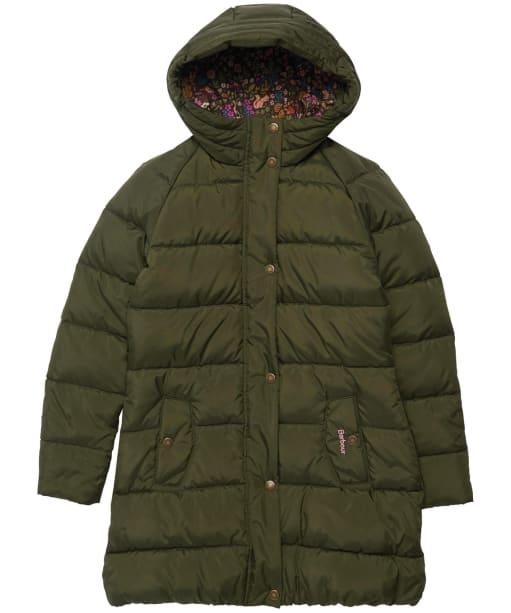 Girl's Barbour Crimdon Quilted Jacket - Olive