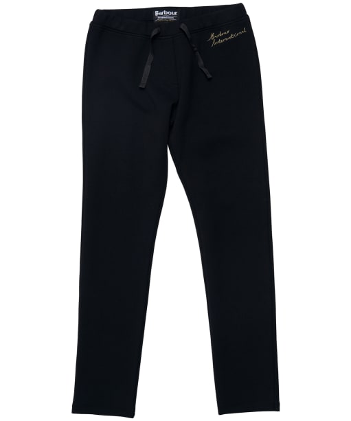 Girl's Barbour International Chequer Track Trousers - Black