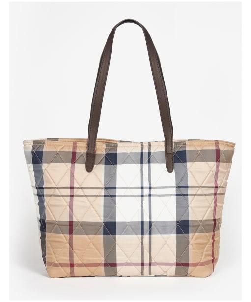 Women's Barbour Wetherham Quilted Tartan Tote Bag - Hessian