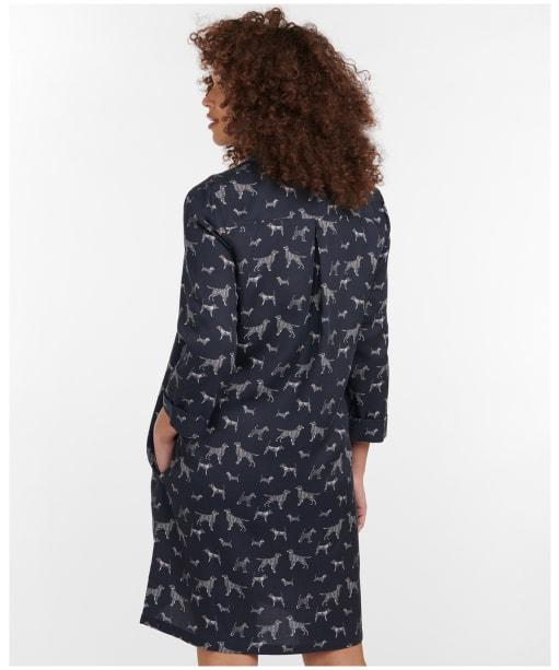 Women's Barbour Printed Seaglow Dress - Navy Print
