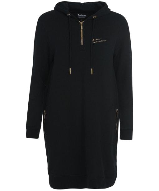 Women's Barbour International Clypse Sweatshirt Dress - Black
