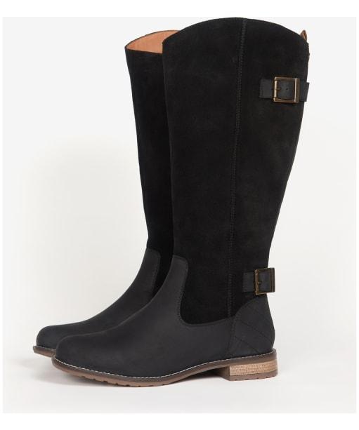Women's Barbour Elizabeth Knee High Boots - Black